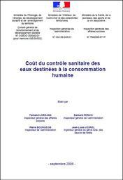 Coût du contrôle sanitaire des eaux destinées à la consommation humaine | LORRANG F