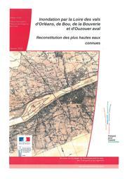 Inondation par la Loire des vals d'Orléans, de Bou, de la Bouverie et d'Ouzouer aval : reconstitution des plus hautes eaux connues | DREAL CENTRE