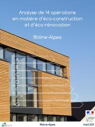Analyse de 14 opérations en matière d'éco-construction et d'éco-rénovation en Rhône-Alpes | Cellule économique Rhône-Alpes