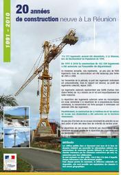 20 années de construction neuve à la Réunion 1991-2010 -Chiffres et statistiques | DIRECTION DE L'ENVIRONNEMENT, DE L'AMENAGEMENT ET DU LOGEMENT REUNION