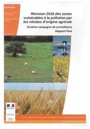 Révision 2016 des zones vulnérables à la pollution par les nitrates d'origine agricole : sixième campagne de surveillance - Rapport final | DIRECTION REGIONALE DE L'ENVIRONNEMENT, DE L'AMENAGEMENT ET DU LOGEMENT CENTRE-VAL DE LOIRE
