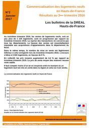 Les Bulletins de la DREAL Hauts- de- France : Bulletin n°2, Résultats au 3ème trimestre 2016 portant sur la commercialisation des logements neufs en Hauts-de-France - ISSN 2555-4395 | DIRECTION REGIONALE DE L'ENVIRONNEMENT, DE L'AMENAGEMENT ET DU LOGEMENT HAUTS DE FRANCE
