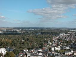 Vue sur les marais depuis la tour de la Cathédrale de Bourges (Cher) | DIRECTION REGIONALE DE L'ENVIRONNEMENT, DE L'AMENAGEMENT ET DU LOGEMENT CENTRE-VAL DE LOIRE