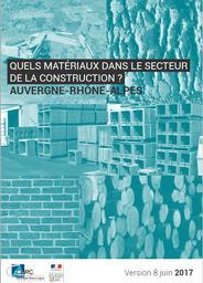 Quels matériaux dans le secteur de la construction en Auvergne-Rhône-Alpes ? | CERC Auvergne-Rhône-Alpes