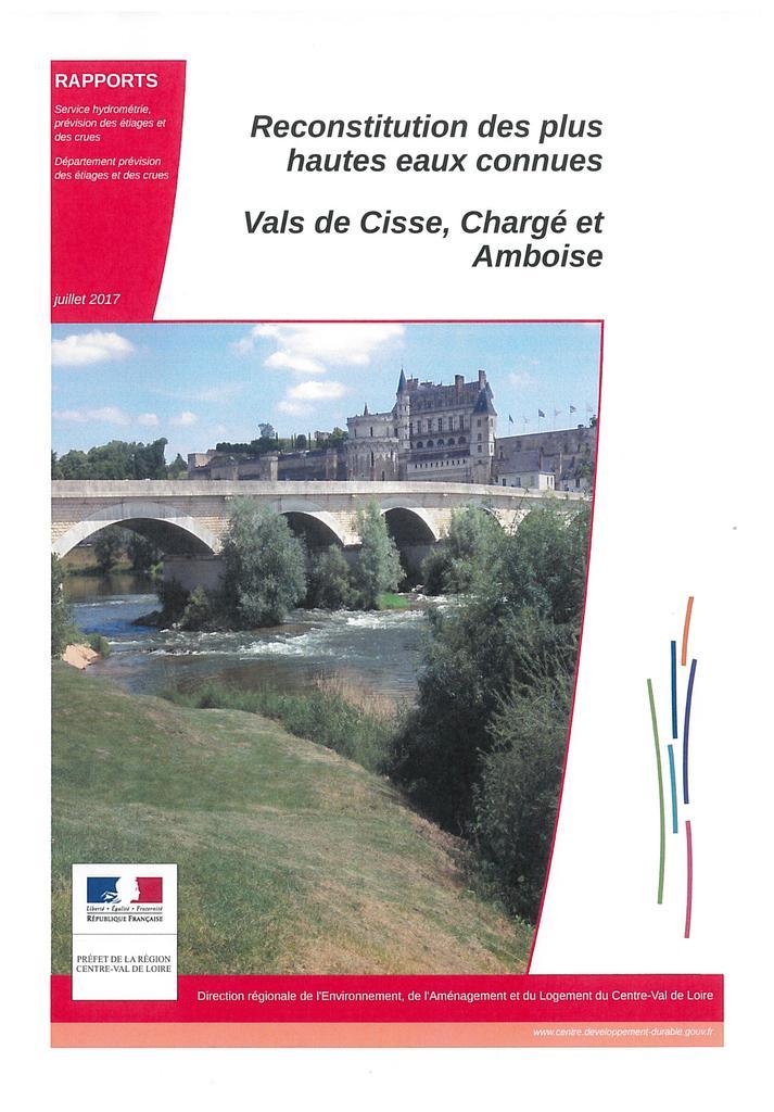 Reconstitution des plus hautes eaux connues : Vals de Cisse, Chargé et Amboise |