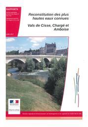 Reconstitution des plus hautes eaux connues : Vals de Cisse, Chargé et Amboise | DIRECTION REGIONALE DE L'ENVIRONNEMENT, DE L'AMENAGEMENT ET DU LOGEMENT CENTRE-VAL DE LOIRE