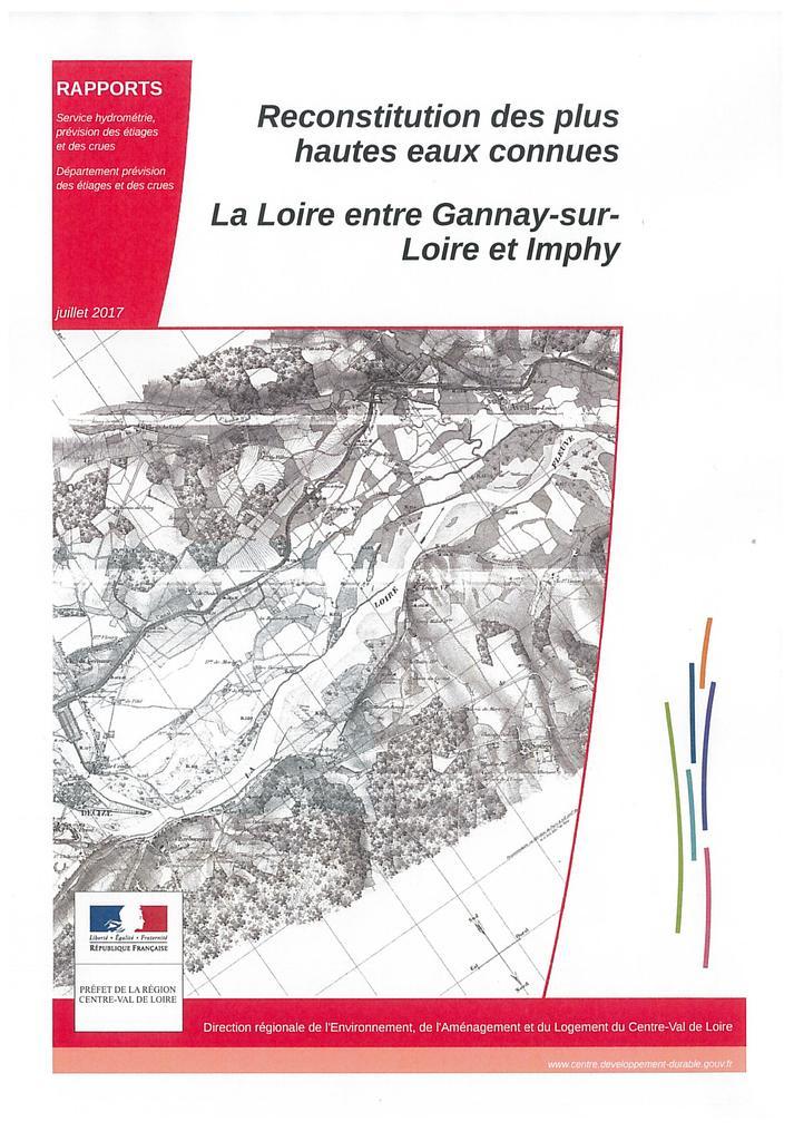 Reconstitution des plus hautes eaux connues : La Loire entre Gannay-sur-Loire et Imphy |