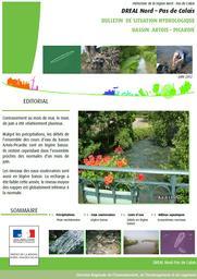 Bulletin de situation hydrologique des Hauts -de-France- Juin 2012 | DIRECTION REGIONALE DE L'ENVIRONNEMENT, DE L'AMENAGEMENT ET DU LOGEMENT HAUTS DE FRANCE