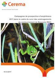 Campagnes de prospection d'amphibiens 2017, dans le cadre du suivi des aménagements du contournement de Beauvais RN 31 | CEREMA DT Nord-Picardie
