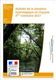 Bulletin de la situation hydrologique en Guyane - 4eme trimestre 2017 | MONFORT Maxime