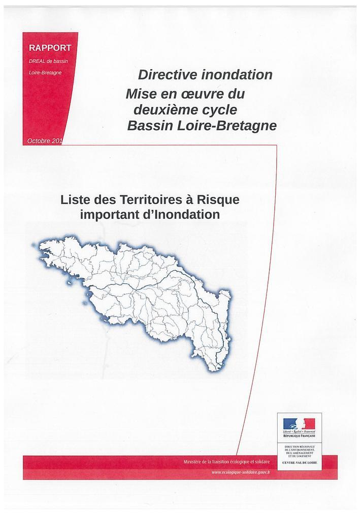 Directive inondation : mise en oeuvre du deuxième cycle Bassin Loire-Bretagne |