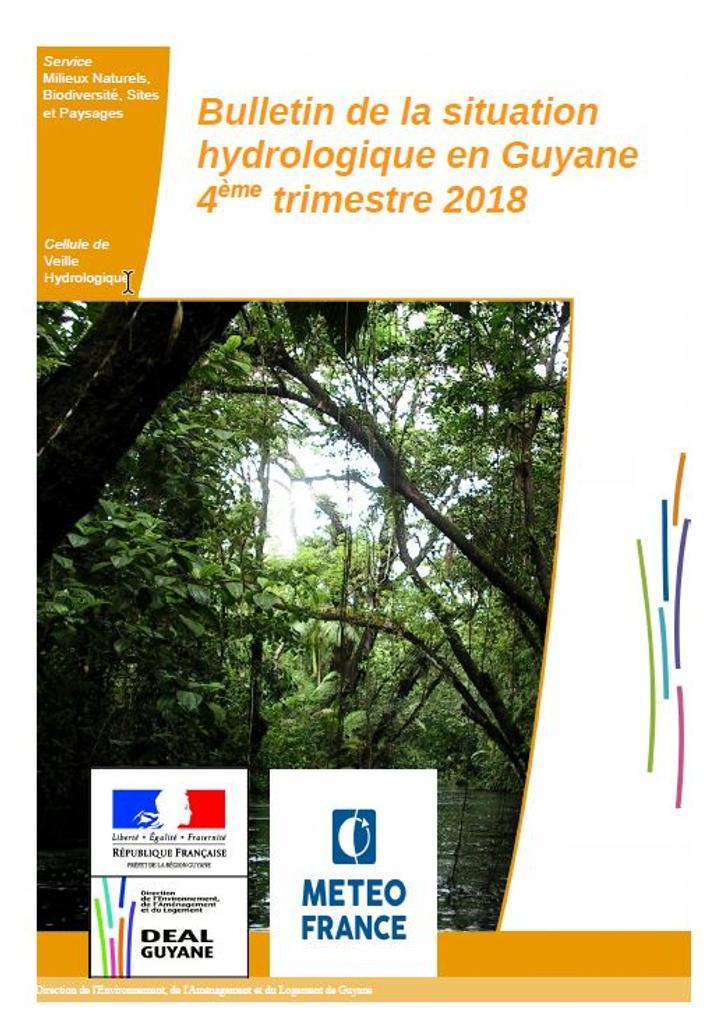 Bulletin de la situation hydrologique en Guyane - 4ème trimestre 2018 |
