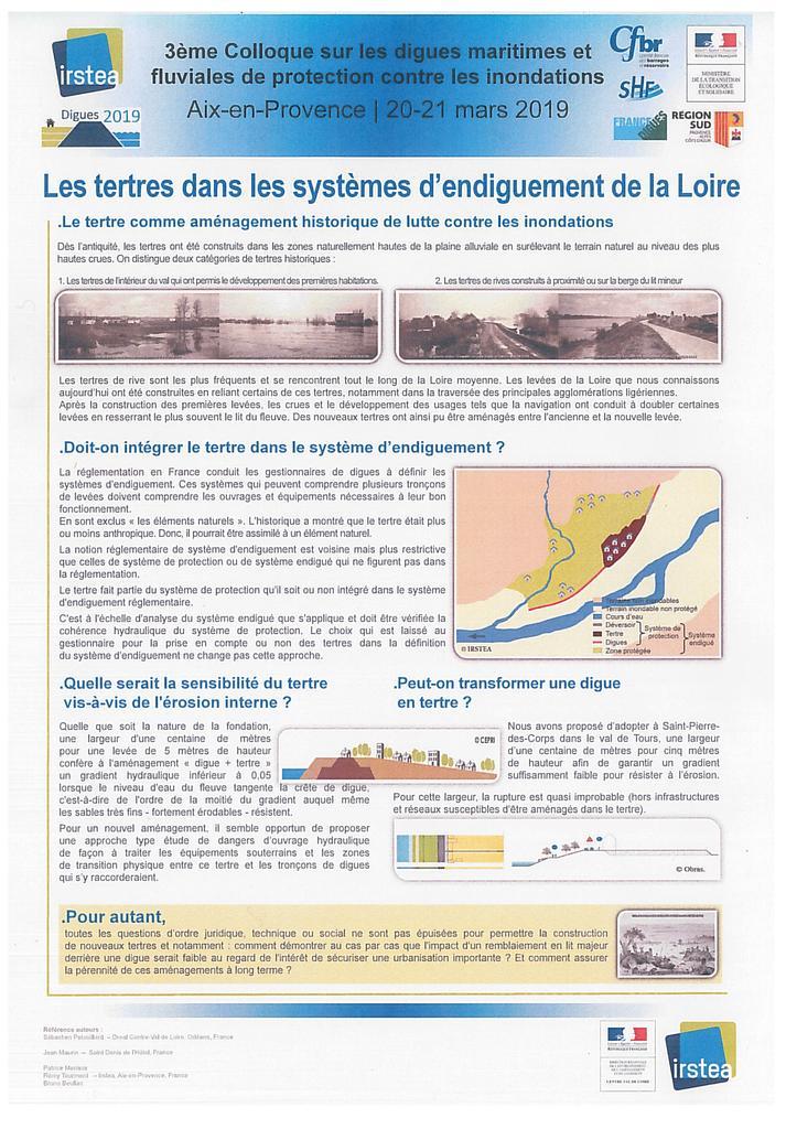 Les tertres dans les systèmes d'endiguement de la Loire |