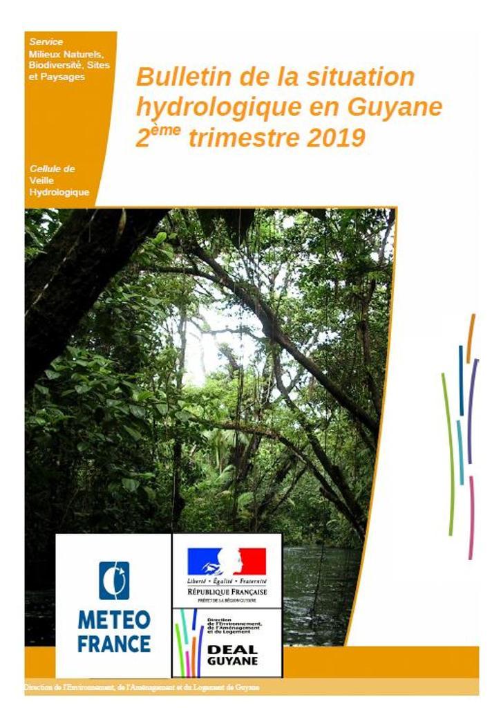 Bulletin de la situation hydrologique en Guyane - 2ème trimestre 2019 |