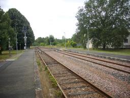 Gare d'Azay-le-Rideau (Indre-et-Loire) : voie ferrée | GUILLEMAUT (Fabien) - DREAL Centre-Val de Loire