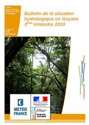 Bulletin de la situation hydrologique en Guyane - 3ème trimestre 2019 | HORTH Maguyna. Directeur de publication