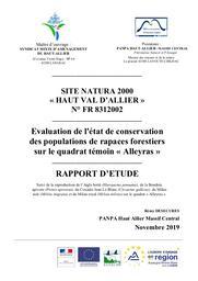 Evaluation de l'état de conservation des populations de rapaces forestiers sur le quadrat témoin « Alleyras » - FR8312002 | DESECURES (Rémy)