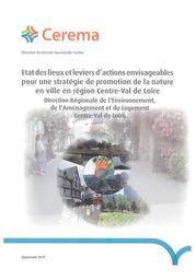 Etat des lieux et leviers d'actions envisageables pour une stratégie de promotion de la nature en ville en région Centre-Val de Loire | CEREMA Direction territoriale Normandie-Centre