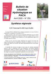 L'Eau en Provence-Alpes-Côte d'Azur : bulletin de situation hydrologique de la DREAL PACA, n°255 - avril 2020 | TOURASSE Corinne