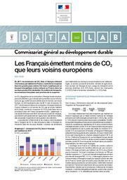 Les Français émettent moins de CO2 que leurs voisins européens. DATALAB Essentiel n° 214 - mai 2020. | FOUSSARD Alexis