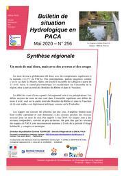L'Eau en Provence-Alpes-Côte d'Azur : bulletin de situation hydrologique de la DREAL PACA, n°256 - mai 2020 | TOURASSE Corinne