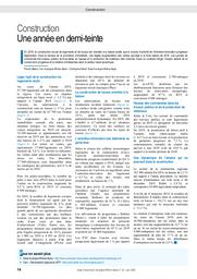 Insee Conjoncture Auvergne-Rhône-Alpes n° 22 : Construction Une année en demi-teinte | INSEE Auvergne-Rhône-Alpes
