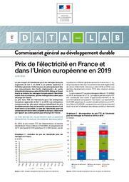 Prix de l'électricité en France et dans l'Union européenne en 2019    LEVY Pascal