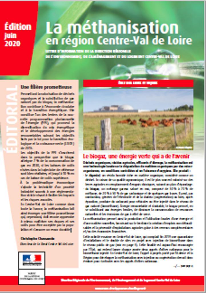 La méthanisation en région Centre-Val de Loire |