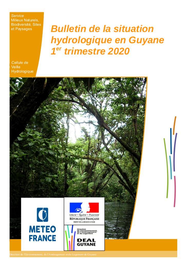 Bulletin de situation hydrologique du 1er trimestre 2020  |