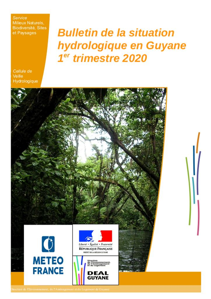 Bulletin de situation hydrologique du 1er trimestre 2020  |