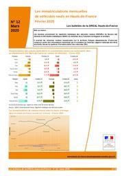 Les bulletins de la Dreal Hauts de France -n° 12- Les immatriculations mensuelles de véhicules neufs en Hauts-de-France Février 2020 | DREAL HAUTS-DE-FRANCE