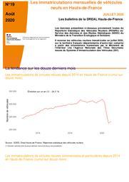 Les bulletins de la Dreal Hauts de France -n° 19- Les immatriculations mensuelles de véhicules neufs en Hauts-de-France juillet 2020 | DREAL HAUTS-DE-FRANCE