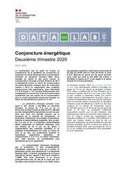 Conjoncture énergétique. Deuxième trimestre 2020. | ANDREI Alexandre