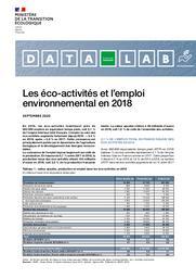 Les éco-activités et l'emploi environnemental en 2018 | NAUROY Frédéric