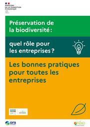 Préservation de la biodiversité : quel rôle pour les entreprises ? Les bonnes pratiques pour toutes les entreprises | MINISTERE DE LA TRANSITION ECOLOGIQUE