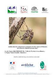 Amélioration des connaissances écologiques de deux espèces d'Odonates de la Directive Habitats présents dans le site Natura 2000 FR8201658 B6 « Vallée de l'Eyrieux et ses affluents » et l'Espace Naturel Sensible « Boutières » | JULIAND Pierre