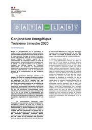 Conjoncture énergétique. Troisième trimestre 2020. | ANDREI Alexandre