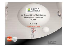 Baromètre d'opinion sur l'énergie et le climat, région Provence-Alpes-Côte d'Azur. BOPEC 2014. BOPEC 2015, industrie et tertiaire, collectivités | ALTEREO