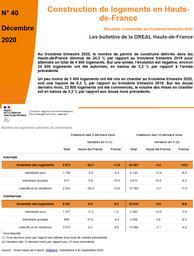 Les bulletins de la DREAL Hauts -de-France - N° 40 Construction de logements au troisième trimestre 2020 en Hauts-de-France.  | DREAL HAUTS-DE-FRANCE