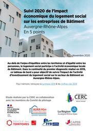 Suivi 2020 de l'impact économique du logement social sur les entreprises de Bâtiment Auvergne-Rhône-Alpes - En 5 points | CERC Auvergne-Rhône-Alpes