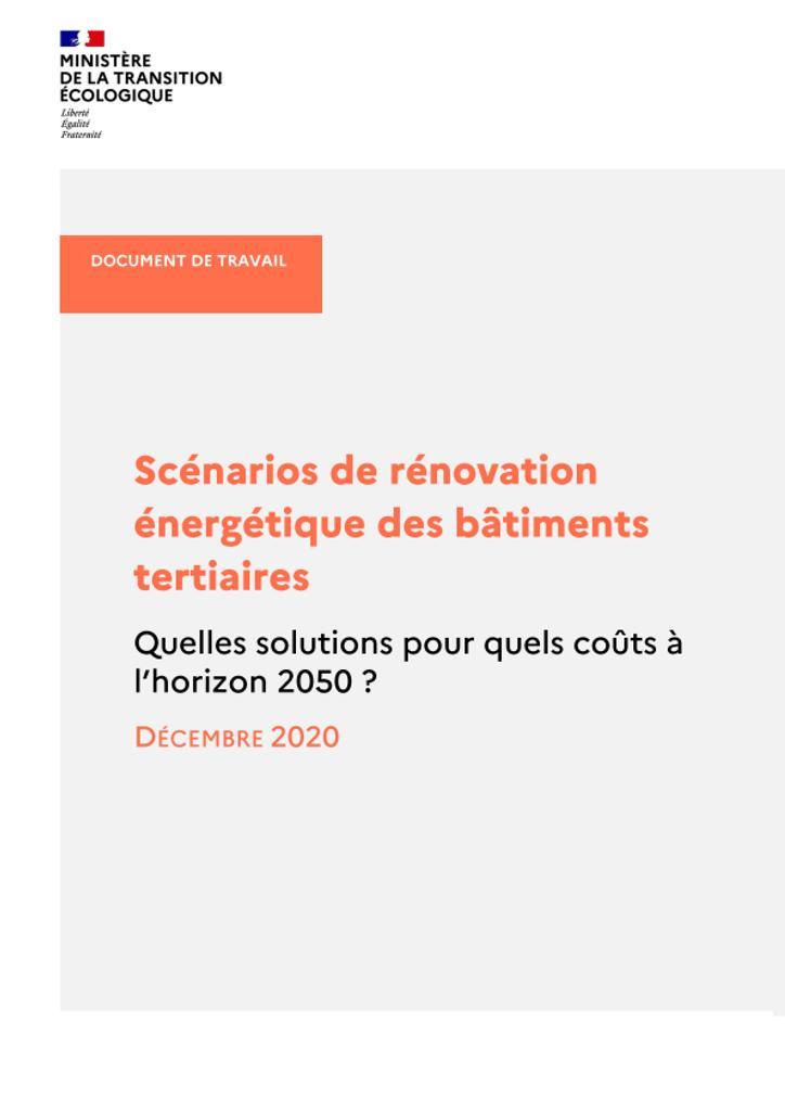 Scénarios de rénovation énergétiques des batiments tertiaires. Quelles solutions pour quels coûts à l'horizon 2050 ? |