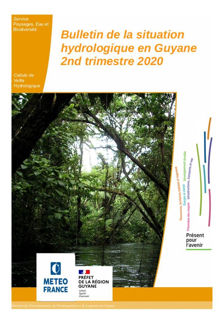Bulletin de situation hydrologique du 2ème trimestre en Guyane |