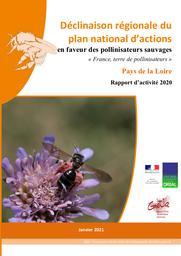 Déclinaison régionale du plan national d'actions en faveur des pollinisateurs sauvages « France, terre de pollinisateurs » Pays de la Loire Rapport d'activité 2020 | HUBERT B.