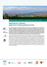 Observatoire statistique transfrontalier - Fiche 1-2020 - Marché du travail, emploi et population active | Office cantonal de la statistique