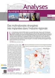 Insee Analyses Auvergne-Rhône-Alpes - Des multinationales étrangères très implantées dans l'industrie régionale n°115 | REFFET-ROCHAS Anne