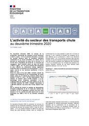 Conjoncture des transports. L'activité du secteur des transports chute au deuxième trimestre 2020   COLUSSI Carlo