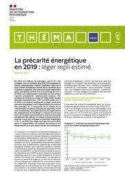 La précarité énergétique en 2019 : léger repli estimé. | PARENT Camille