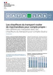Les chauffeurs du transport routier de marchandises pour compte propre : des différences marquées avec les chauffeurs du transport pour compte d'autrui. | LAMBREY Serge