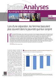 Insee Analyses Auvergne-Rhône-Alpes - Lors d'une séparation, les femmes basculent plus souvent dans la pauvreté que leur conjoint n°103 | BALOUZAT Bruno