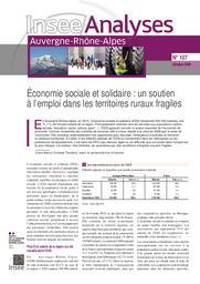 Insee Analyses Auvergne-Rhône-Alpes - Economie sociale et solidaire : un soutien à l'emploi dans les territoires ruraux fragiles n° 107 | BIANCO EMMA